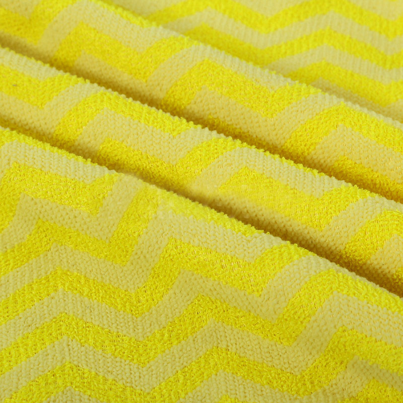 Super absorbent quick dry Super Cheap color striped bath towel fabric