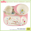 BPA free 5PC Flower Fairy printed melamine dinner set kids with cup holder tray, 200ml mugs, spoon & fork