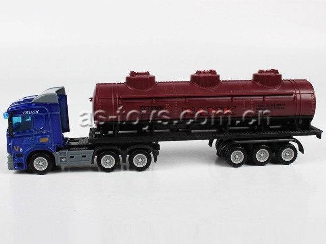 shantou factory1:64 Free wheel alloy container die cast truck with cheap price