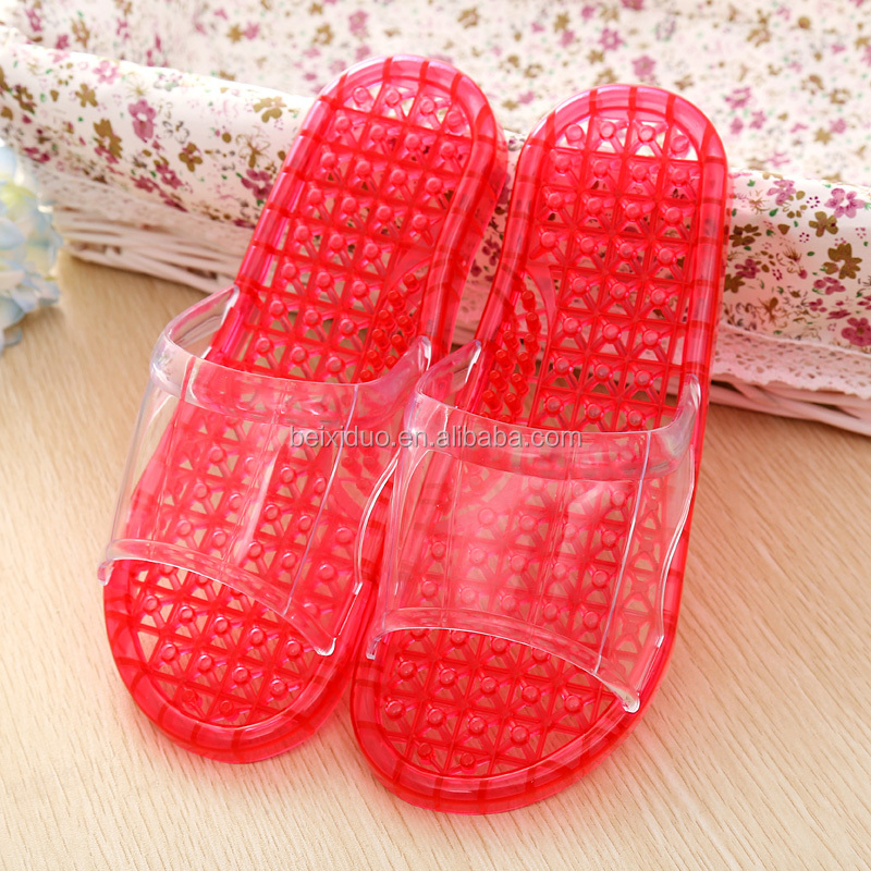 Beixiduo wholesale ladies massage <strong>flat</strong> slipper acupuncture massage slippers non slip bathroom slipper