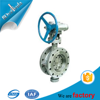 Ductile iron Manual Concentric Lug Wafer Butterfly Valve