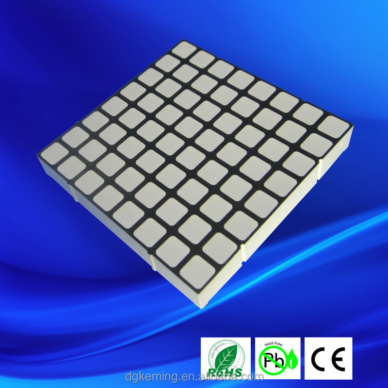 5 mm 8x8 rgb 8x8 dot matrix led display,60*60 dot matrix