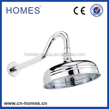 "Curved Shower Arm with 8"" Traditional Rose - Chrome Plated"