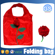 OEM factory direct suppy rose foldable shopping bag 190T polyester cheap