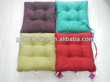 Hot selling 100% cotton solid chair pad with different colors for choosing