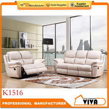 Home Furniture Living Room Air Leather Used Sofa Recliner K1516