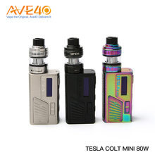 Creative Tesla COLT Mini 80W Vapor Starter Kit box mod from Tesla manufacture