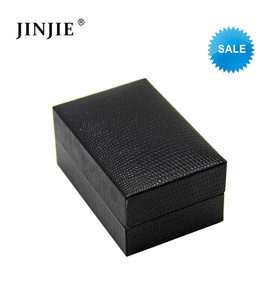 STB007 Black Jewelry Cufflinks Box giftbox Case for men Cuff Link Display Cases bluk (only box)