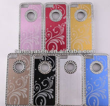 Electroplating chrome hard metal aluminum case for iphone 5