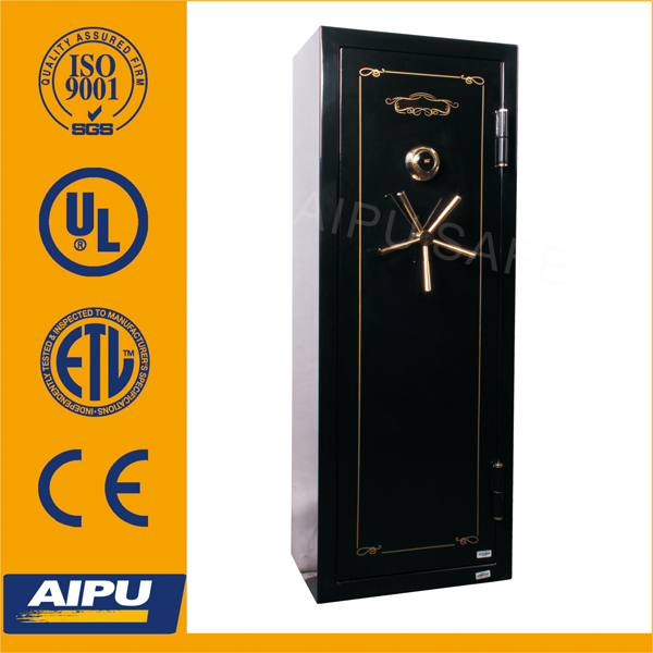Fireproof gun safe box GS5922C-1928H High-end 16 rifle storage with UL listed Lagard combination lock/gun safe box/safe
