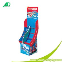 kids children Toothbrush toothpaste floor display free standing rack cardboard corrugated paper