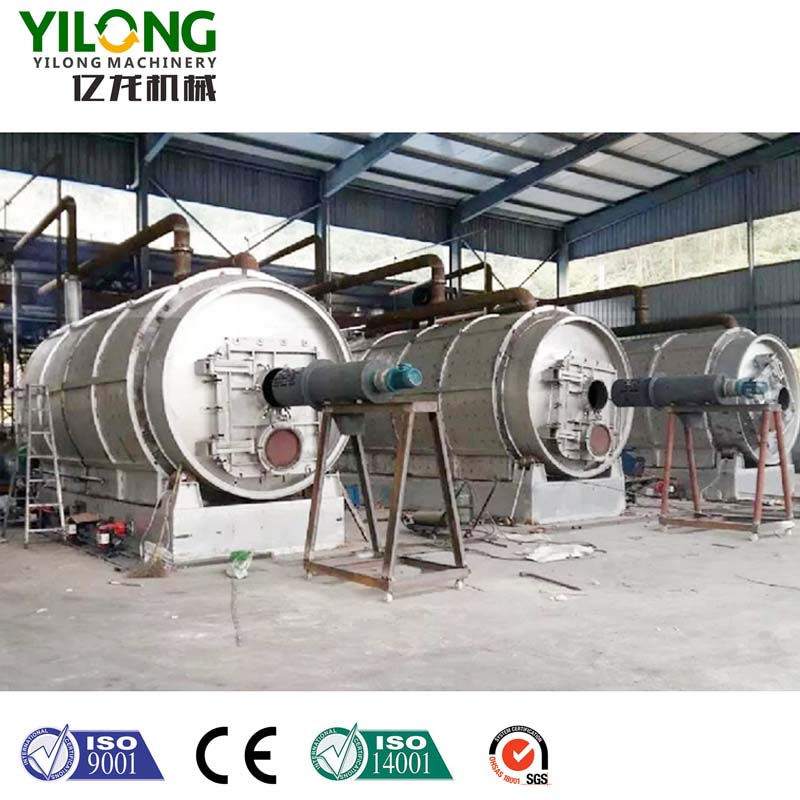fully automatic waste tire recycling pyrolysis equipment