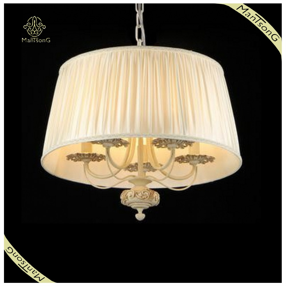 Home Indoor Lighting Classic Pendant Light Big Cloth Shade