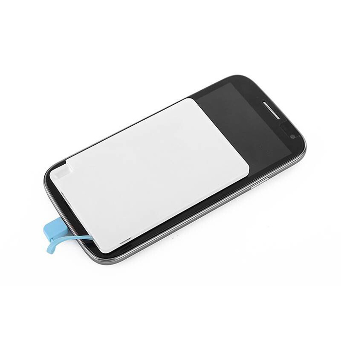 High Quality Credit Card Built in Micro USB Cable Ultrathin Power Bank 2600mAh Portable Charger