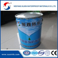 Double-component waterproof coating for tiles