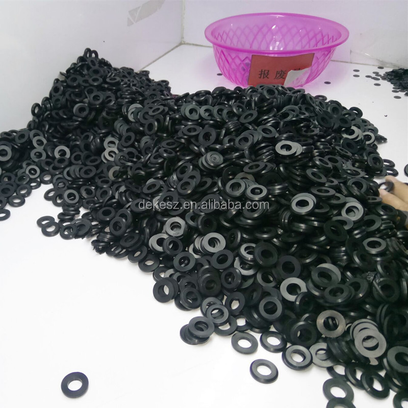 OEM customized heat resistant round flat rubber washer