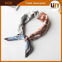Woman scarf custom printed silk scarves scarf factory China