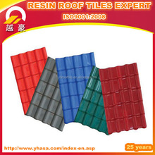 Colorful stone coated synthetic shingles asa roof tile