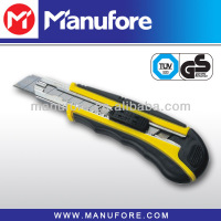 18mm sliding blade knife, plastic cutter knife, safety knife