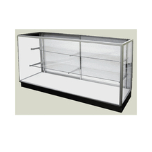 free standing Extra Vision Outside Corner glass cosmetic watch display Showcase