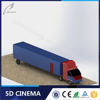 Small Business Investment Theme Park 5D 7D 9D Truck Drive Cabin Mobile Cinema