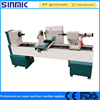 High Efficiency China made cnc lathe wood cutting lathe for baseball bat/ chair legs/handrails /legs making