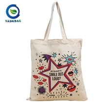 Eco-friendly recycled colorful logo high quality 100% cotton canvas bag