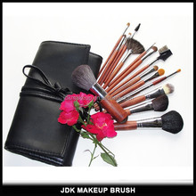 Best 15PCS Rosewood Handle Makeup Brush Sets with Kabuki