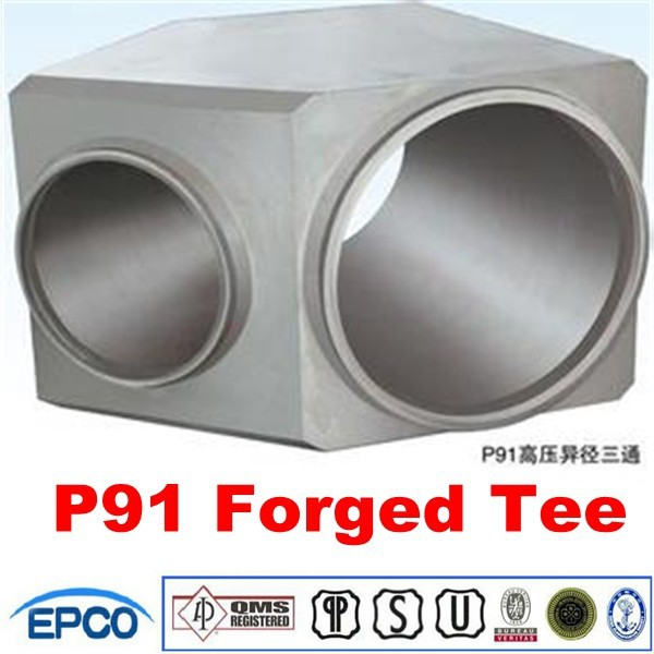 forged steel pipe fitting sw equal tee ASTM A182 F91