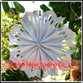 "Handmade 16"" white Pinwheel Paper Flower wedding Hanging Decoration"
