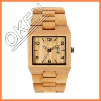 2016 wooden watch celebrate gift free brand name 100% FSC wood