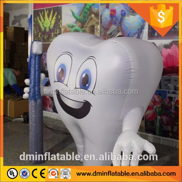 Advertising Dental Inflatable Tooth, Custom Helium Balloon 3.5m High Tooth