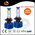 Wholesale factory 30w 3200lm COB 9007 led headlight bulb B2series IP68 30000hrs