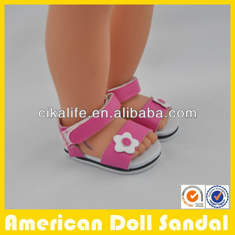 18inch wholesale rubber sole doll sandal for dolls