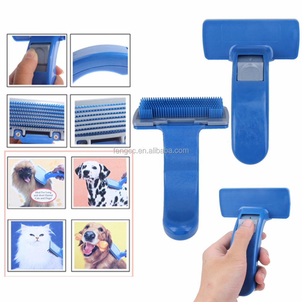 Wholesales High Quality Self Cleaning Grooming Tools Pet Brush For Dogs Hair