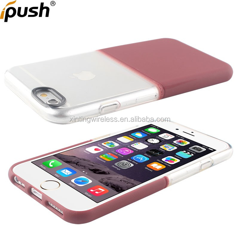 New Hard PC Plastic Transparent Clear TPU Design Soft TPU shockproof Mobile Phone Cases For iphone 6/6s 3 in 1 case