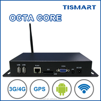 High-rate octa core wifi/Lan/3G Android smart media player box 1080P for digital signage tab/bus/metro advertising system