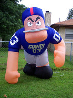 Hot selling nfl inflatable player lawn figure for playing game advertising