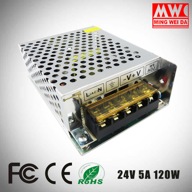 24V 5A 120W S-120-24 ac/dc led transformer power supply with factory price