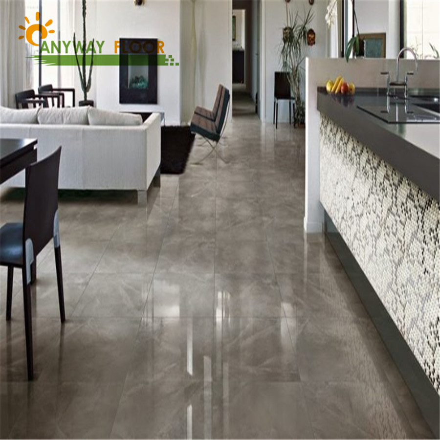 Groutable vinyl floor tiles