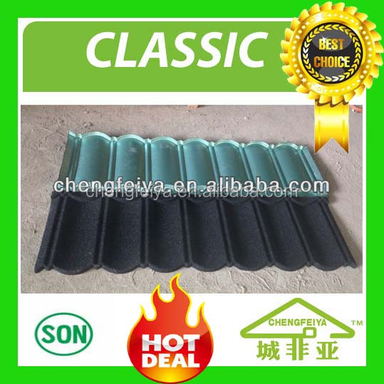Waterproof corrugated steel roofing sheet/stone coated cover for roof
