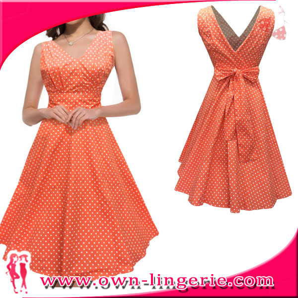 Women Summer Retro Casual Elegant Party Robe Rockabilly Vintage Dress for maternity mother