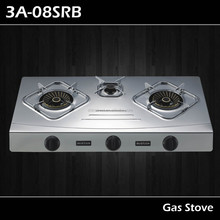 3 burners gas stove part name 3A-08SRB