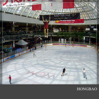 Ningjin artificial ice rink board/ barrier/ fence manufacturer
