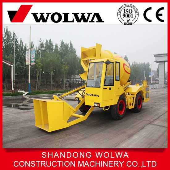 2015 best sale!china high performance self loading 2m3 mobile concrete mixer