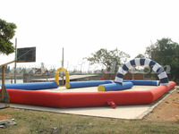 2011 inflatable race tracks for go karts, sport games B6024