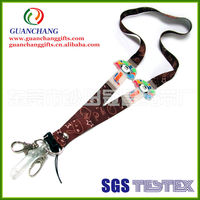 Cute sublimation lanyard with PVC flag