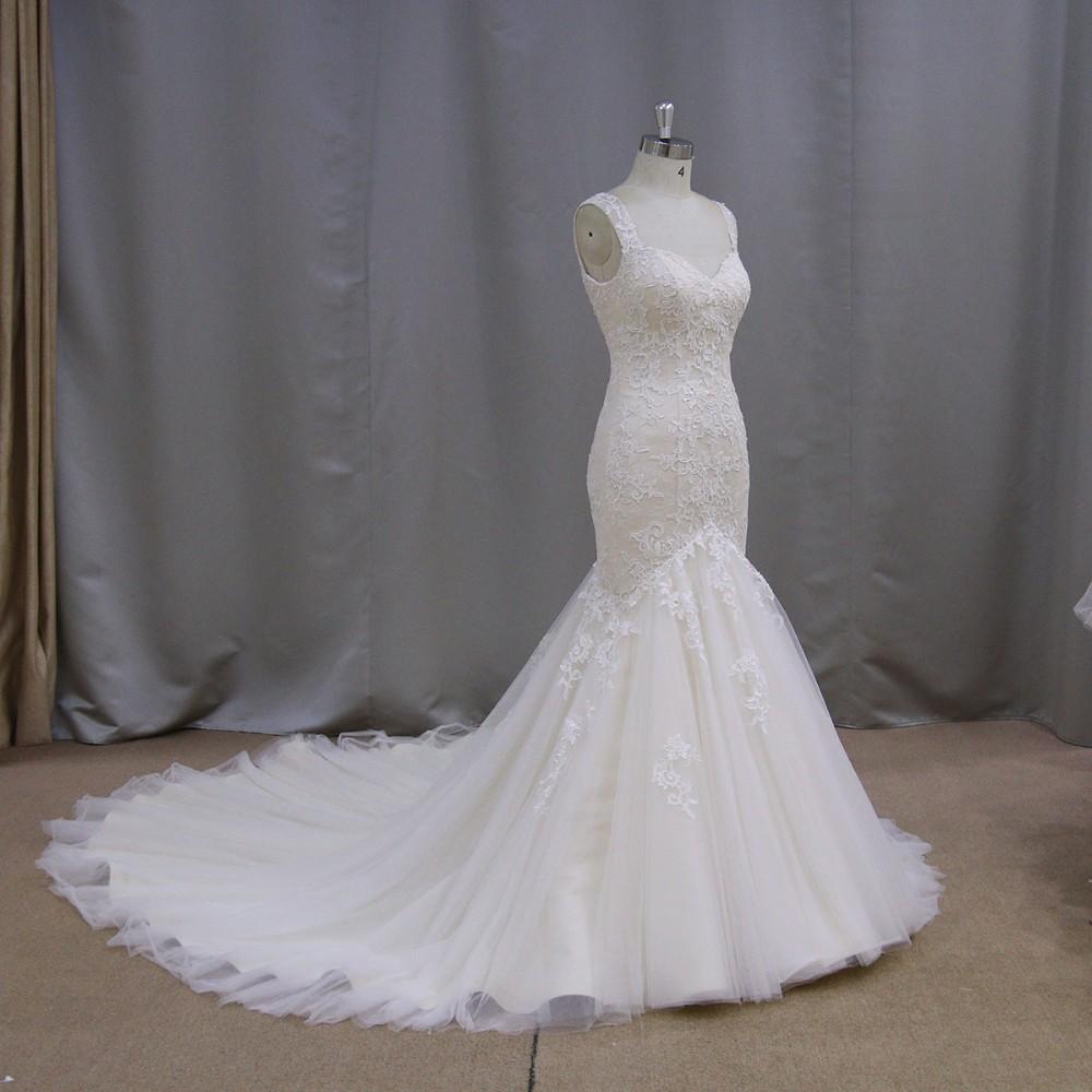 Luxury wedding dress 2018 low back beach wedding dress for Beach wedding dress low back