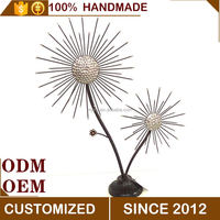 New Home Decor Wrought Iron Flower ornaments