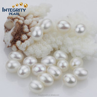 7.5-8.5mm AAA white teardrop rice shape natural pearl factory price loose pearl cultured pearls
